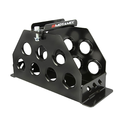 Motamec Alloy Race Battery Tray Red Top 30 40 Vertical Mounting Box - Black