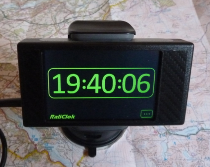 RaliClok dashboard or windscreen mount