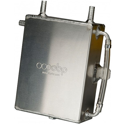 OBP 2 Litre Square Baffled Bulkhead Mounted Oil Catch Tank