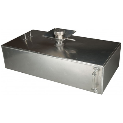 OBP 6 Gallon Square Aluminium Fuel Tank with Splash Bowl