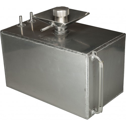 OBP 5 Gallon Square Aluminium Foam Filled Fuel Tank with Splash Bowl