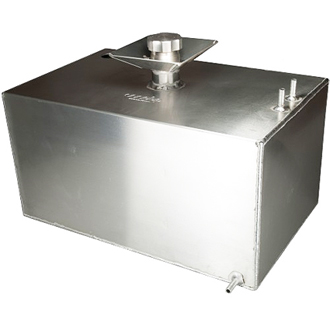 OBP 8 Gallon Baffled Aluminium Fuel Tank c/w Filler Bowl and Sender Hole