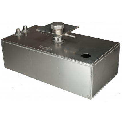 OBP 6 Gallon Square Aluminium JIC Fuel Tank with Splash Bowl & Sender Hole