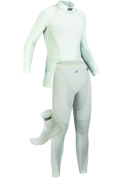 OMP One White Nomex Underwear Package 2 with Ankle Socks