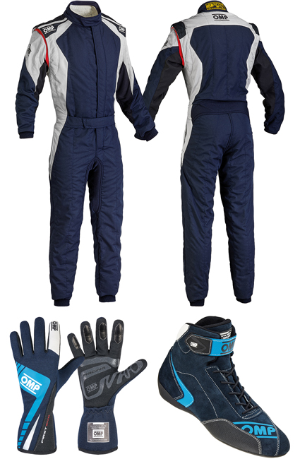 OMP First Evo Blue Racewear Package