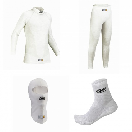 OMP One my2020 White Nomex Underwear Package 1 with Ankle Socks