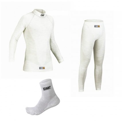OMP One my2020 White Nomex Underwear Package 2 with Ankle Socks