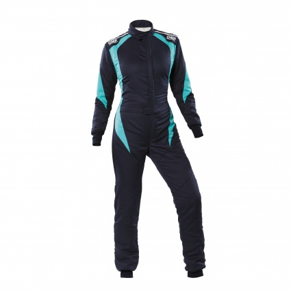 OMP First Elle my2020 FIA Race Suit Navy Blue/Tiffany