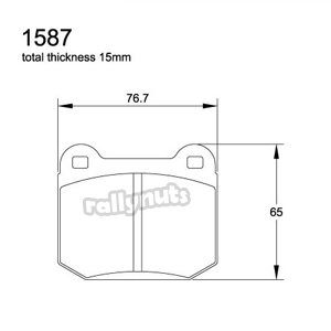 Pagid E1587 RS29 Yellow Brake Pads