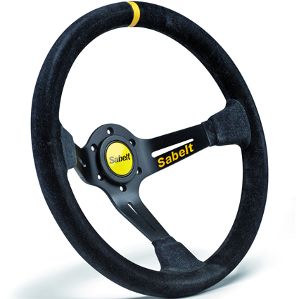 Sabelt SW-390 Black Suede Steering Wheel