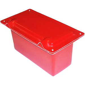 Rallynuts GRP Red Top 25 Only Racing Battery Box Red