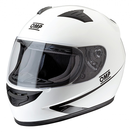 OMP Circuit Full Face Helmet White