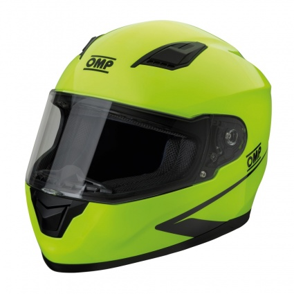 OMP Circuit Evo Full Face Helmet Fluo Yellow