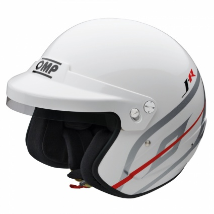 OMP J-R  Open Face Helmet White