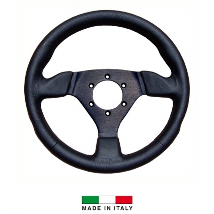 R-Tech 300mm Flat Leather Steering Wheel