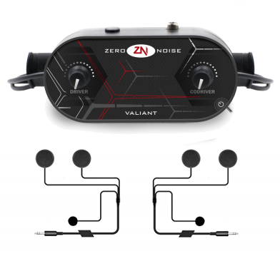 Zero Noise Intercom Kit - 2 Full Face Headsets