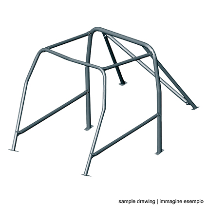 OMP AA/104P/70 FE45 Bolt-In Roll Cage Mini Cooper Mk 2