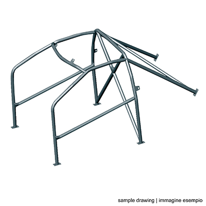 OMP AB/105P/225 FE45 Bolt-In Roll Cage Mazda MX5