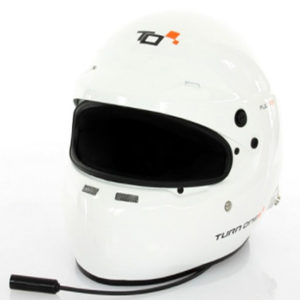 Turn One Full-RS Stilo Intercom Visor Peak Helmet White