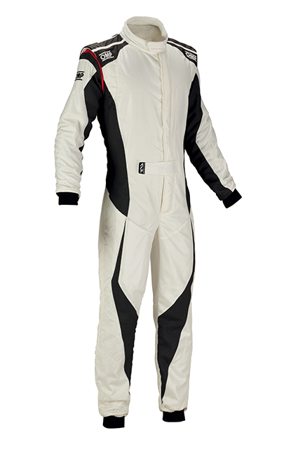 OMP Tecnica Evo Race Suit White/Anthracite
