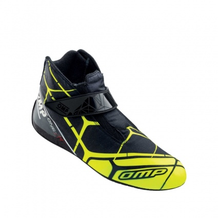 OMP One Art Race Boots Black/Fluo Yellow