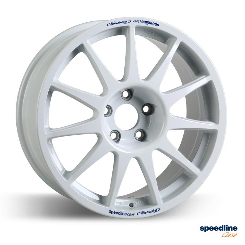 Speedline Corse 2120 Tarmac Wheel 8x17 White Rallynuts