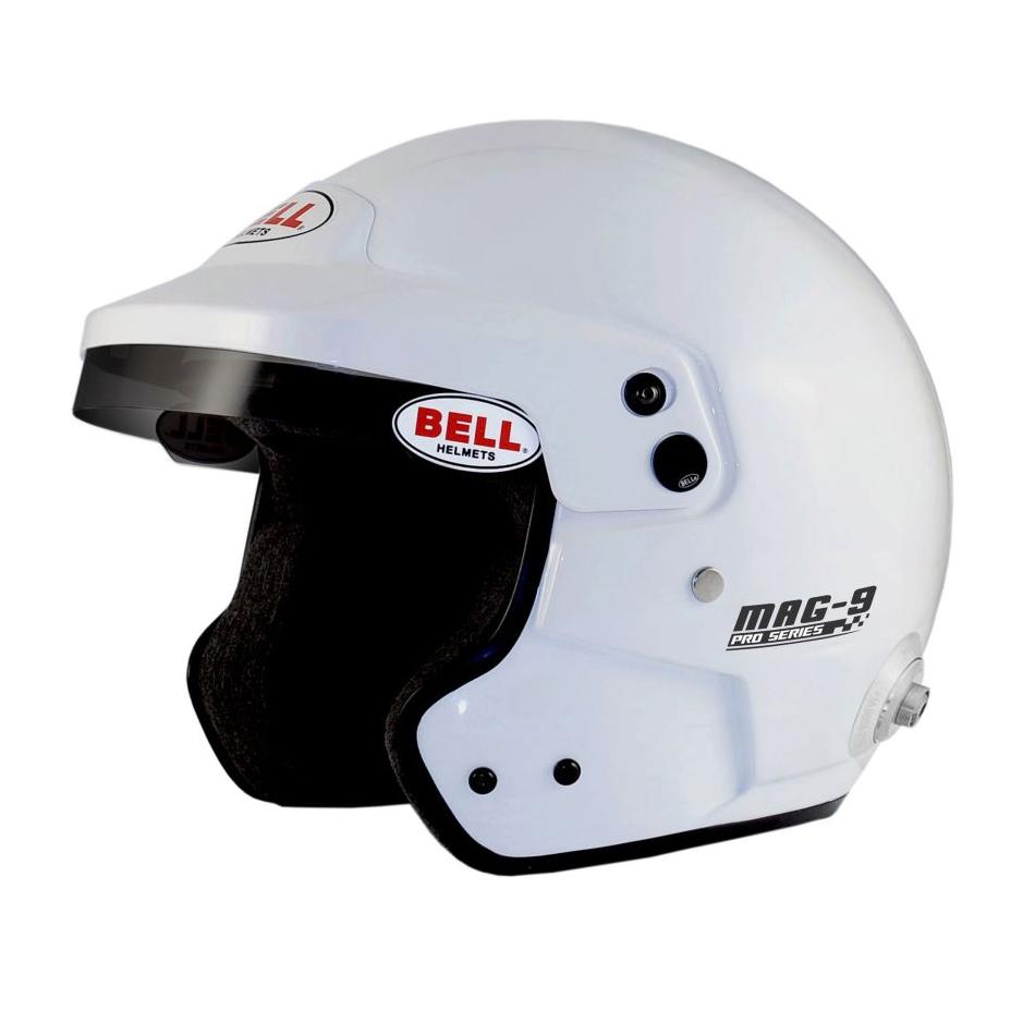 Motor Oil Brands >> Bell Mag 9 Helmet White   Bell Open Face Rally Helmet White   Bell 8859-2015 Approved Helmets ...