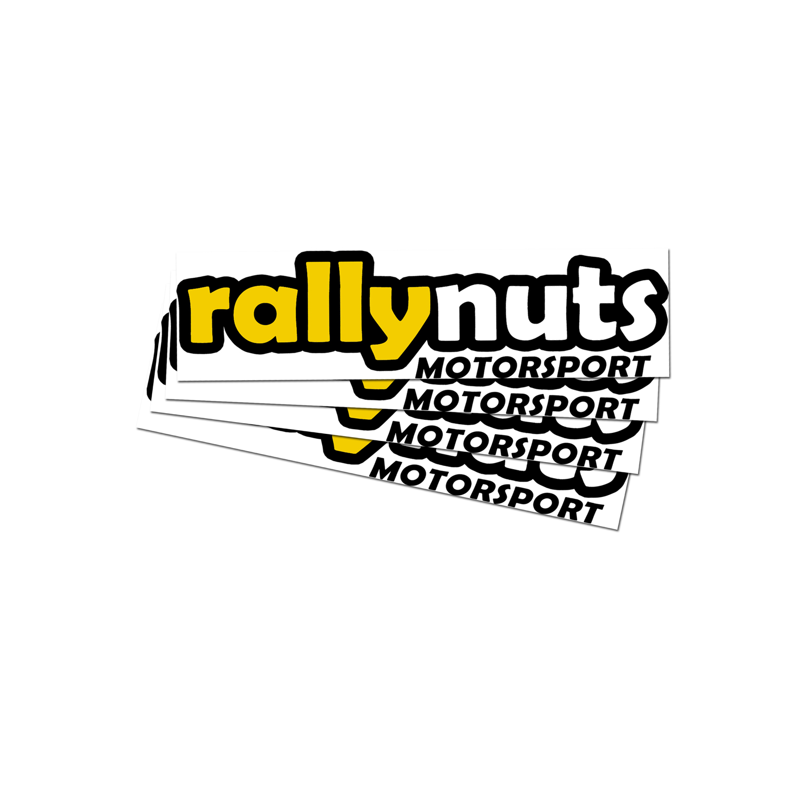 Rallynuts small self adhesive sticker 2 pack