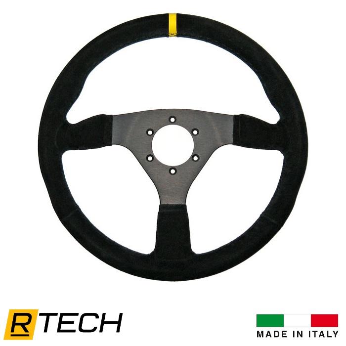 R-Tech 300mm Flat Suede Steering Wheel