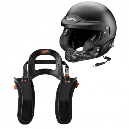 Sparco RJ-5I Black Helmet & HANS Package
