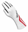 Sparco Land Classic Race Gloves White/Black/Red