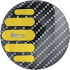 Sparco Yellow Carbon Horn Badge