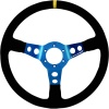 Turn One Nike Steering Wheel Black Suede Blue Spokes
