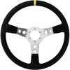 Turn One Nike Steering Wheel Black Suede Silver Spokes
