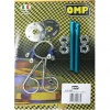 OMP Blue Aluminium Bonnet Pin Kit