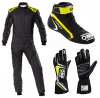OMP First Evo Anthracite/Yellow Racewear Package