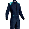 OMP First-S Race Suit Navy Blue/Cyan