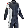 OMP Tecnica-S Race Suit Black/White/Silver
