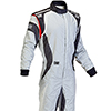 OMP One Evo Race Suit Grey/White/Black