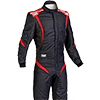 OMP One S1 Race Suit Black/Anthracite/Red