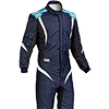 OMP One S1 Race Suit Dark Blue/Cyan/White