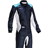 OMP One-S Race Suit Dark Blue/Cyan