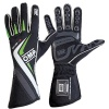 OMP One-S Race Gloves Black/White/Fluo Green