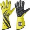 OMP One-S Race Gloves Black/Fluro Yellow