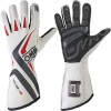 OMP One-S Race Gloves White/Black/Fluro Red