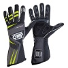 OMP Tecnica Evo Race Gloves Black/Anthracite/Fluo Yellow