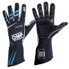 OMP Tecnica Evo Race Gloves Navy Blue/Cyan