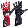 OMP Tecnica Evo Race Gloves Red/Black/White