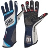 OMP One Evo Race Gloves Dark Blue Grey/Cyan