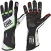 OMP One Evo Race Gloves Black/White Fluro Green